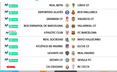 Betis y Sevilla ya conocen sus horarios para la segunda jornada de LaLiga.