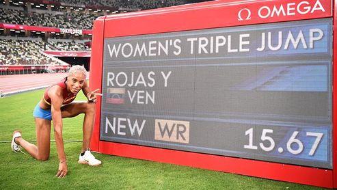 El Gobierno y la oposición celebran oro el olímpico de la venezolana Yulimar Rojas
