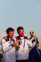 Xammar y Rodríguez (470), bronce y segunda medalla de la vela española