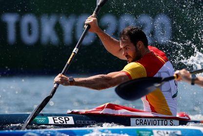 Carlos Arévalo acompañará a Craviotto en las semifinales de K1 200