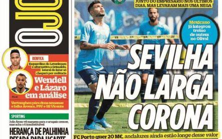 El Sevilla hace un nuevo intento por Corona