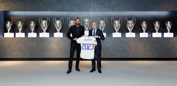 """Benzema renueva con el Real Madrid hasta 2023: """"Qué honor estar aquí"""""""