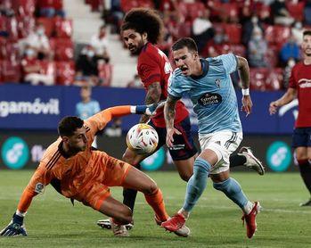 0-0. Osasuna y Celta no encuentran el gol en El Sadar