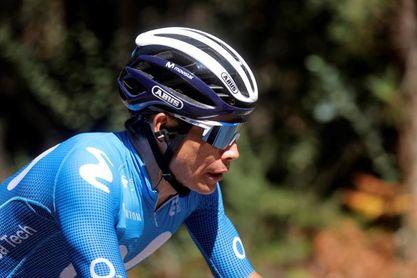 Miguel Ángel López abandona la Vuelta tras dejarse el podio en la etapa