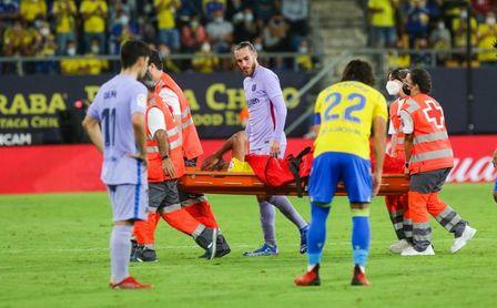 Preocupación en el Cádiz ante la gravedad de la lesión de Fali