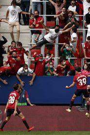 1-0. Manu Sánchez estrena El Sadar con un gol en el tiempo añadido