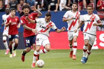 El Osasuna y el Rayo empatan al descanso en un partido con pocas ocasiones