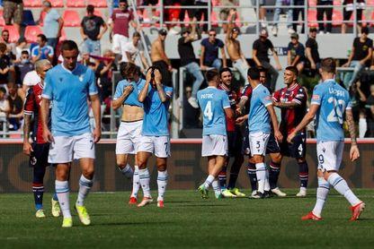 El Lazio se estrella en Bolonia