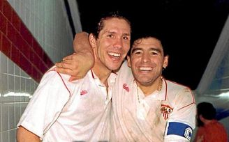 Luis Aragonés terminó de convencer a Simeone para dejar el Sevilla FC