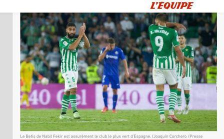 """En Francia gusta el Betis: el diario L'Equipe ensalza la """"apuesta verde"""""""