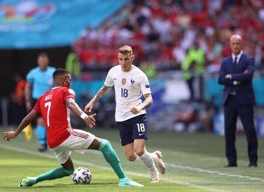 Lucas Digne, baja para la final contra España por un dolor muscular