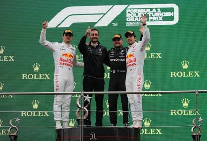 'Checo' firmó su podio número 13, tercero con Red Bull y segundo en Turquía