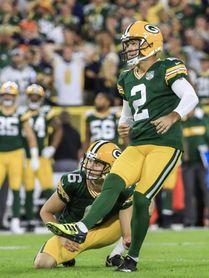 22-25. Crosby anota el gol de campo del triunfo de los Packers luego de fallar tres